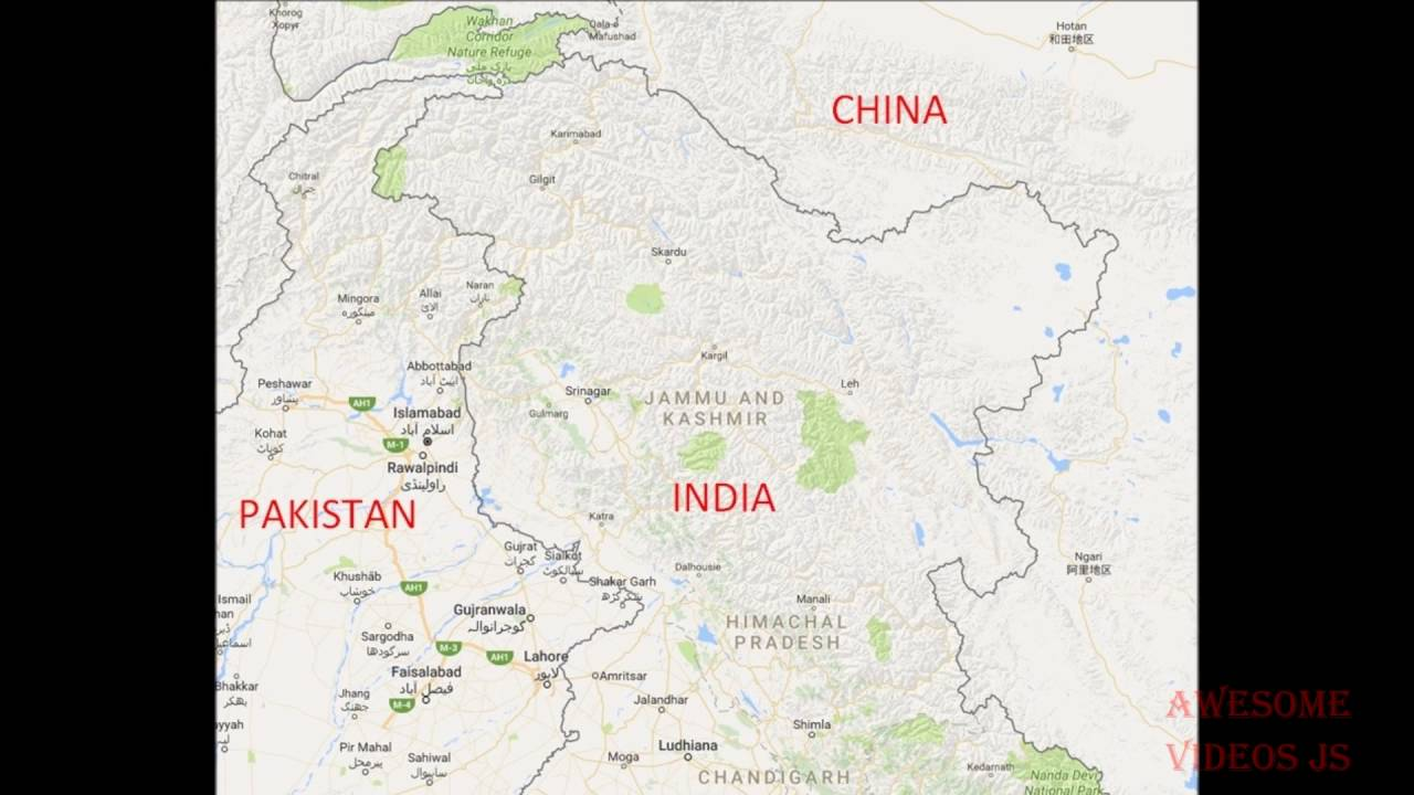 Google map shows Kashmir differently in India and rest of the World ...