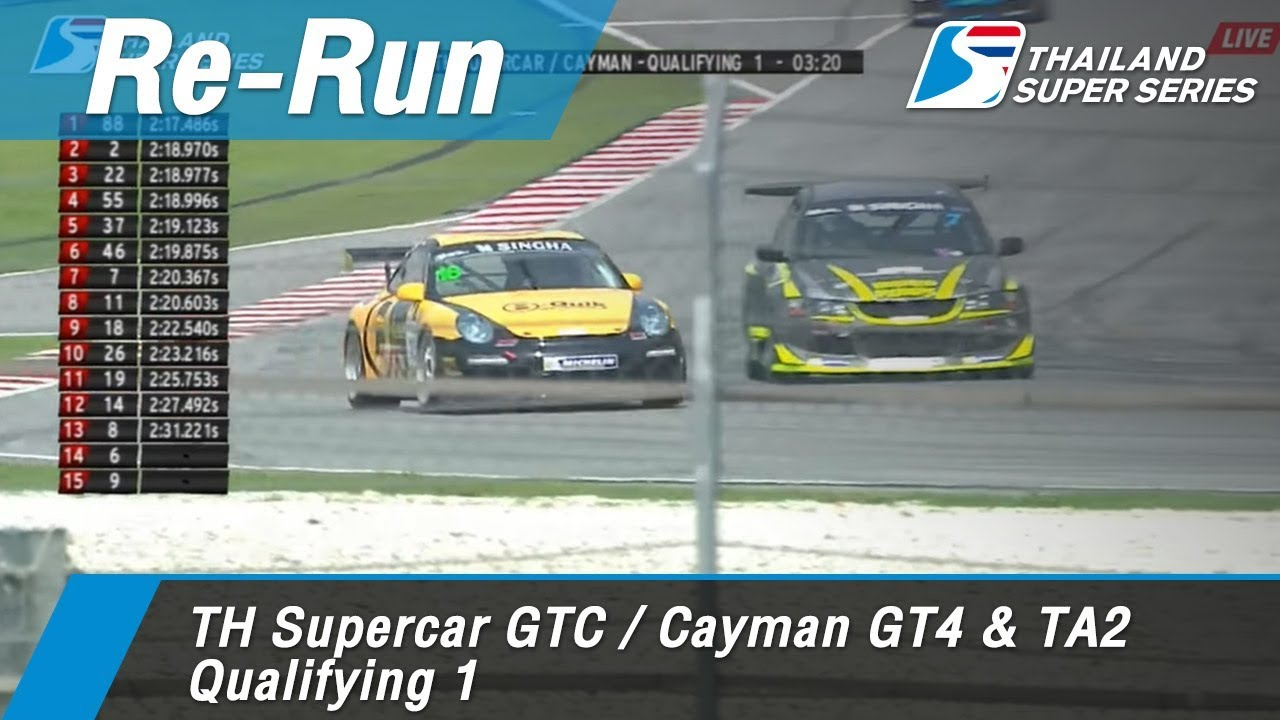TH Supercar GTC / Cayman GT4 & TA2 Qualifying 1 : Sepang International Circuit Malaysia 31 Mar 2018