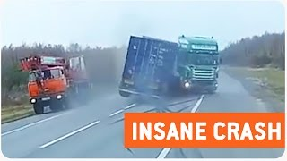Semi Truck Spins Out On Highway | Swerve