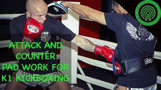 3 Attack and Counter Pad Work Drills for K1 Kickboxing