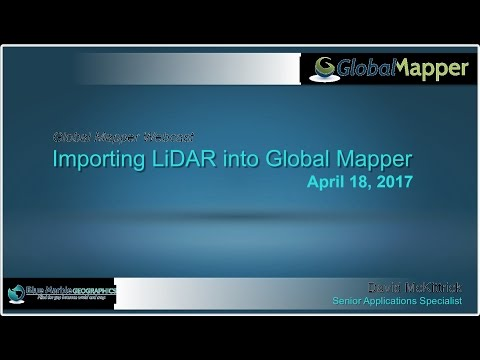 Importing LiDAR into Global Mapper
