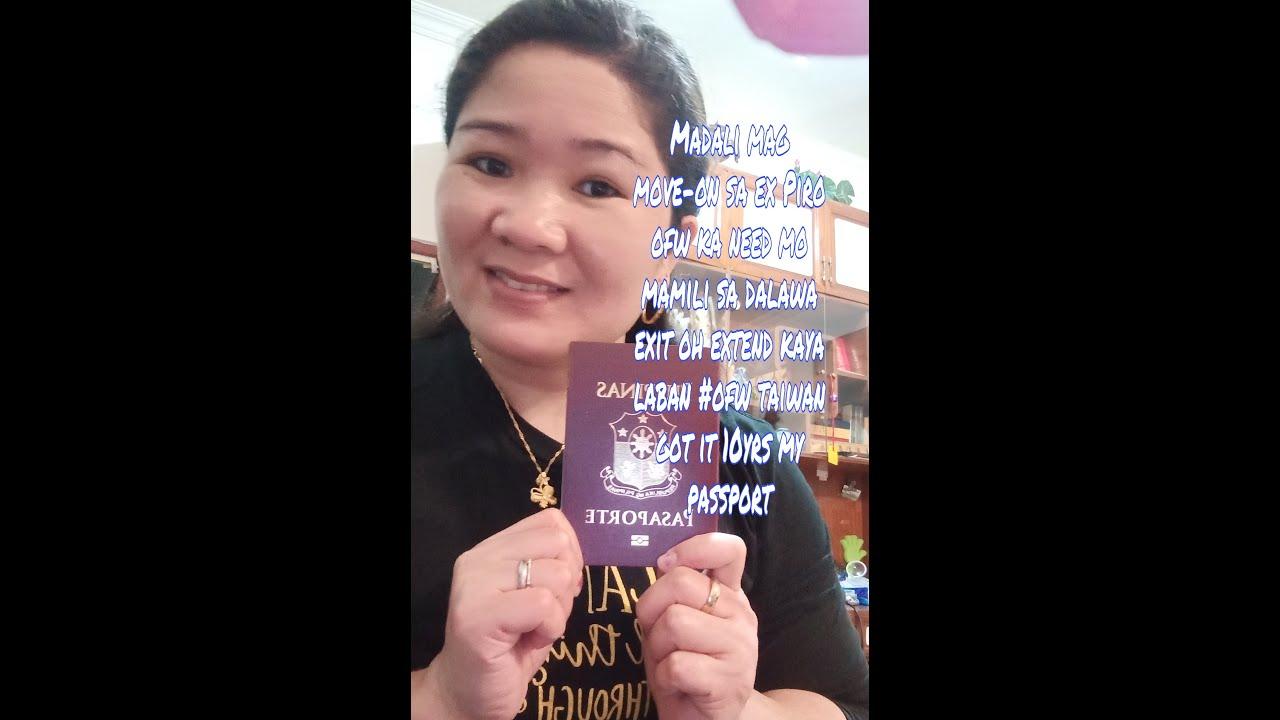 Napapagud piro di susuko done Renewal 10yrs Passport  Laban Ofw Taiwan/Evangeline Apostol