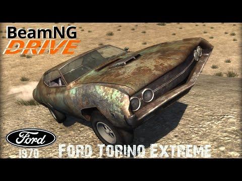 BeamNG DRIVE crash test mod car 1970 Ford Torino Extreme