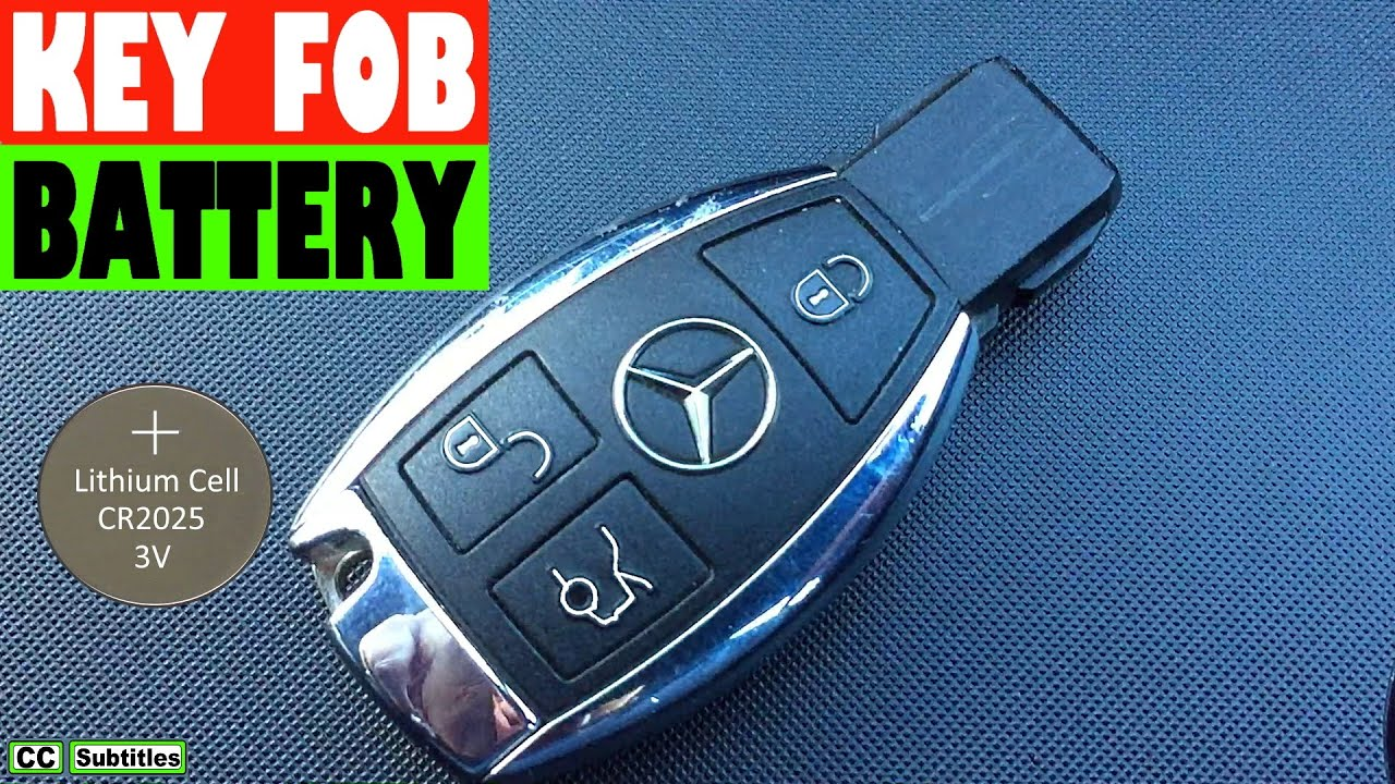 Mercedes Key Fob Battery Replacement - How to replace ...