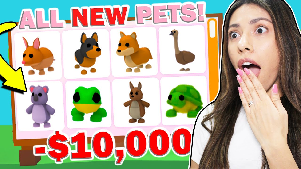 I BOUGHT ALL THE *NEW* AUSSIE PETS in ADOPT ME and LOST ALL MY ROBUX! - Roblox (Aussie Egg Update)