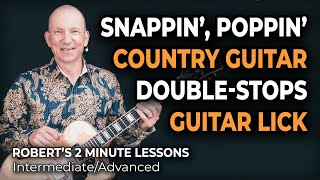 Snappin' Country Guitar Lick a la Brent Mason - Robert's 2 Minute Lessons (42)