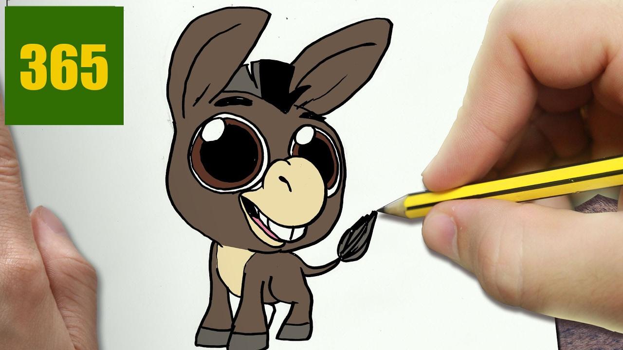 Comment dessiner ne kawaii tape par tape dessins kawaii facile youtube - Dessiner un ane ...