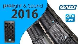 Prolight & Sound 2016 am Stand von K.M.E. [GALO Line Array] (HD)