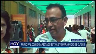 Víctor Larco: Principal colegio afectado por huaicos está listo para inicio de clases