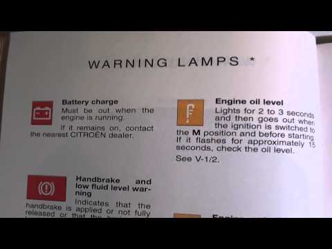 Citroen Saxo Dash Warning Lights & Symbols -