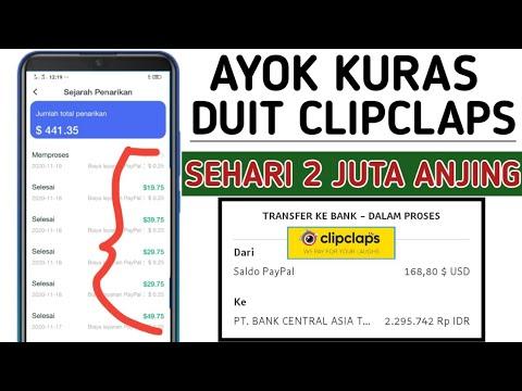 CLIPCLAPS | CARA CEPAT NUYUL UANG CLIPCLAPS DI JAMIN WITHDRAW $ 100 SETIAP HARI | APK PENGHASIL UANG