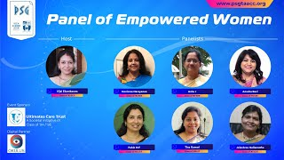 PSG Tech Alumni Association - Chennai Chapter, Women's Day - Panel Discussion on 20th Mar 2021