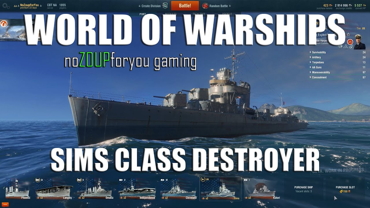 [NoZoupForYou] Sims Class Destroyer Review - World of Warships