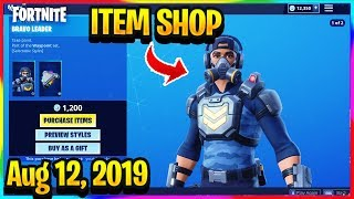 FORTNITE ITEM SHOP *NEW* BRAVO TEAM LEADER WAYPOINT SKIN! | ITEM SHOP (Aug 12, 2019)
