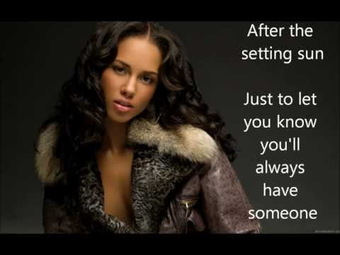 Alicia Keys- That's How Strong My Love Is (Lyrics)