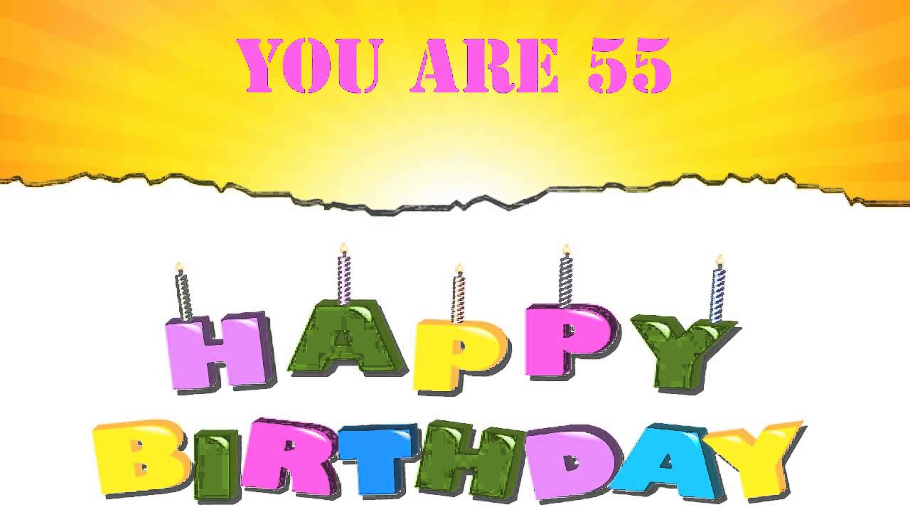 55 Years Old Birthday Song Wishes