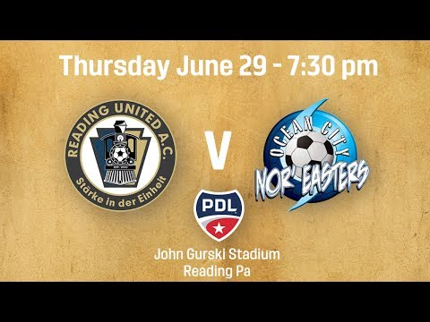 Reading United v Ocean City Nor'Easters
