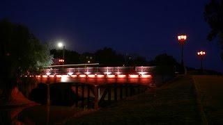 Красный мост. Чернигов. Timelapse