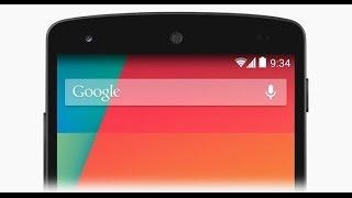 Barra de notificaciones transparente en android
