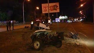 В ДТП из-за пьяного водителя Волгу разорвало пополам