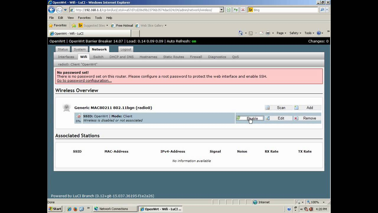 configure OPENWRT as access point