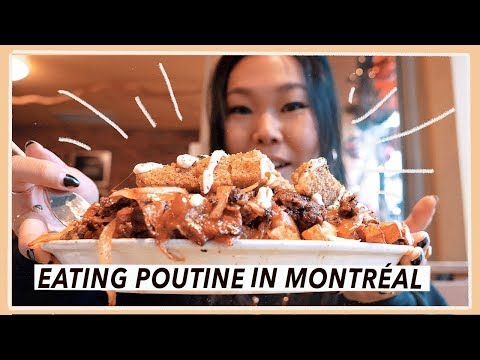 Trying Poutine in Montreal | Canada Food Travel Vlog