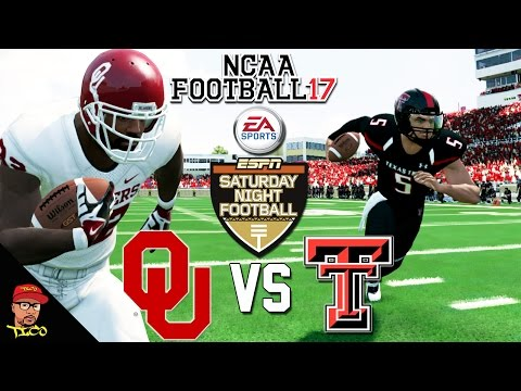 NCAA Football 17 | #16 OKLAHOMA Vs TEXAS TECH | Saturday Night Football HD FACECAM GAMEPLAY!