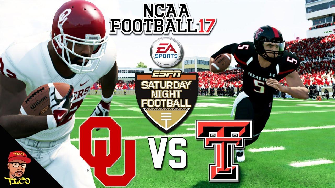 Ncaa Football 17 16 Oklahoma Vs Texas Tech Saturday Night