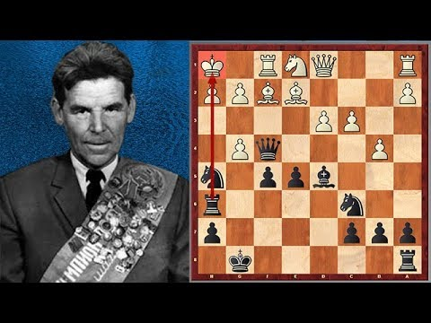 After Sacrificing Several Pieces Nezhmetdinov Mates With A Pawn!