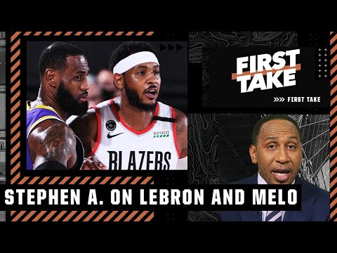 LeBron and Carmelo should've been teammates years ago! - Stephen A.   First Take