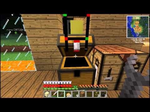 Minecraft: Logistics Pipe Sorting I Auto Crafting System