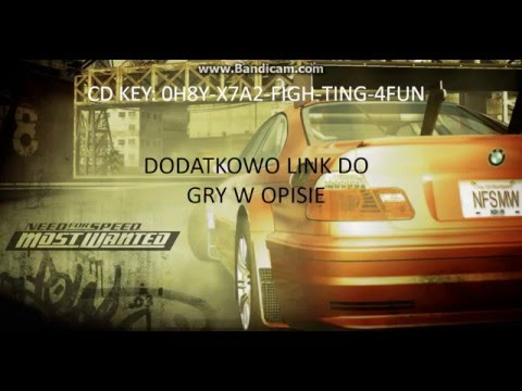 CD KEY DO NFS MOST WANTED 2005+LINK DO POBRANIA GRY
