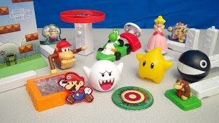 NINTENDO WII 2008 BURGER KING BIG KID'S MEAL FULL TOY COLLECTION VIDEO REVIEW