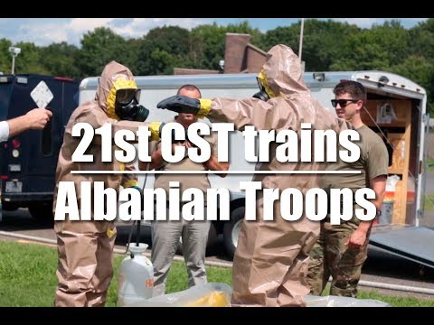 The 21st Civil Support Team trains Albanian Soldiers
