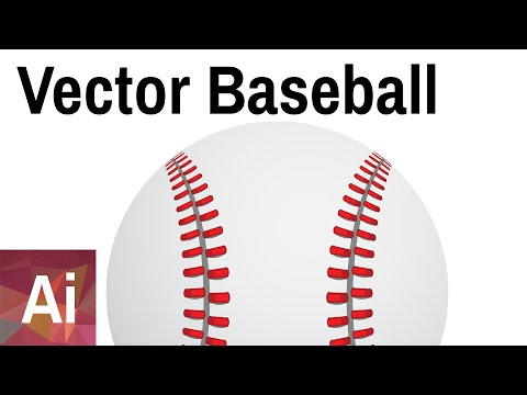 Vector Baseball - Adobe Illustrator Tutorial thumbnail