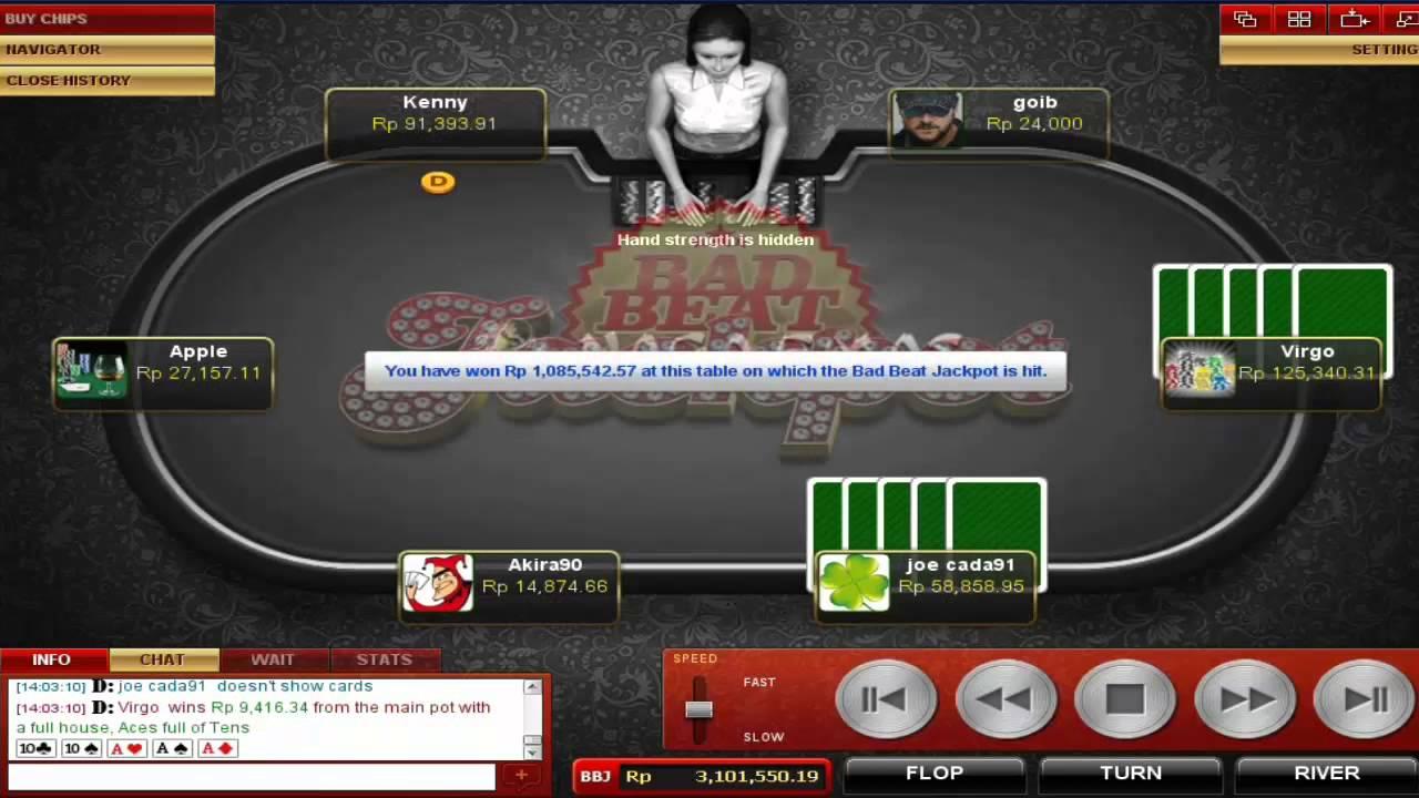 Bad Beat Jackpot (19) at nagaemas.com (AAA33 vs AAA1010)