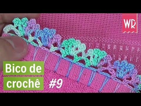 ✨Bico de crochê fácil, bonito e simples para toalha e fraldas #9 | como fazer crochê