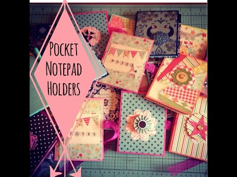 Craft Fair Idea #3:  Pocket Notepad Holders with tutorial 2015
