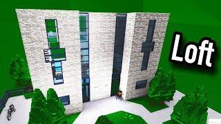 Minimalistic Loft! • Roblox - BloxBurg • (56K)
