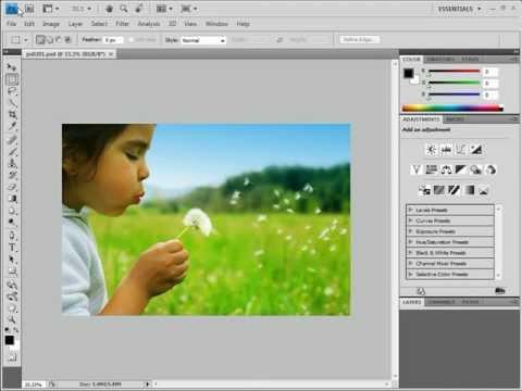 Photoshop cs4 tutorial spot healing brush / patch tool (beginner.