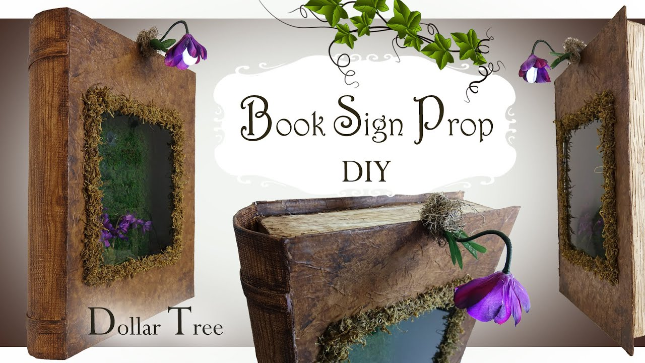 Dollar Tree Book Sign Prop DIY / Party Prop DIY / Welcome Sign Prop