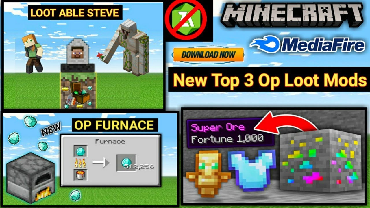 Download How To Download New Top 3 Op Loot Mod In Minecraft Pe ! MEDIAFIRE【UNIVERSE GAMER】