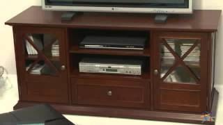 The Hampton 55 Inch Tv Stand - Cherry - Product Review Video