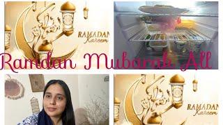 Ramdan Mubarak to you All🌸🌸|| My Ramdan preparation and Fridge tour 🥘 🍔 🍕 🍟