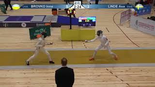 FE 2018 T32 08 F E Individual Yerevan ARM U23 European Championships YELLOW BROVKO UKR vs LINDE SWE thumbnail