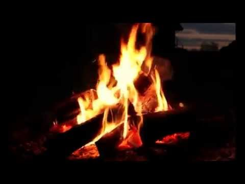Outdoor Fireplace with Crackling Fire Sounds (HD)