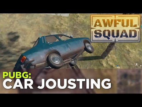 AWFUL SQUAD: Car Jousting w Griffin, Pat, Justin and Russ and more!