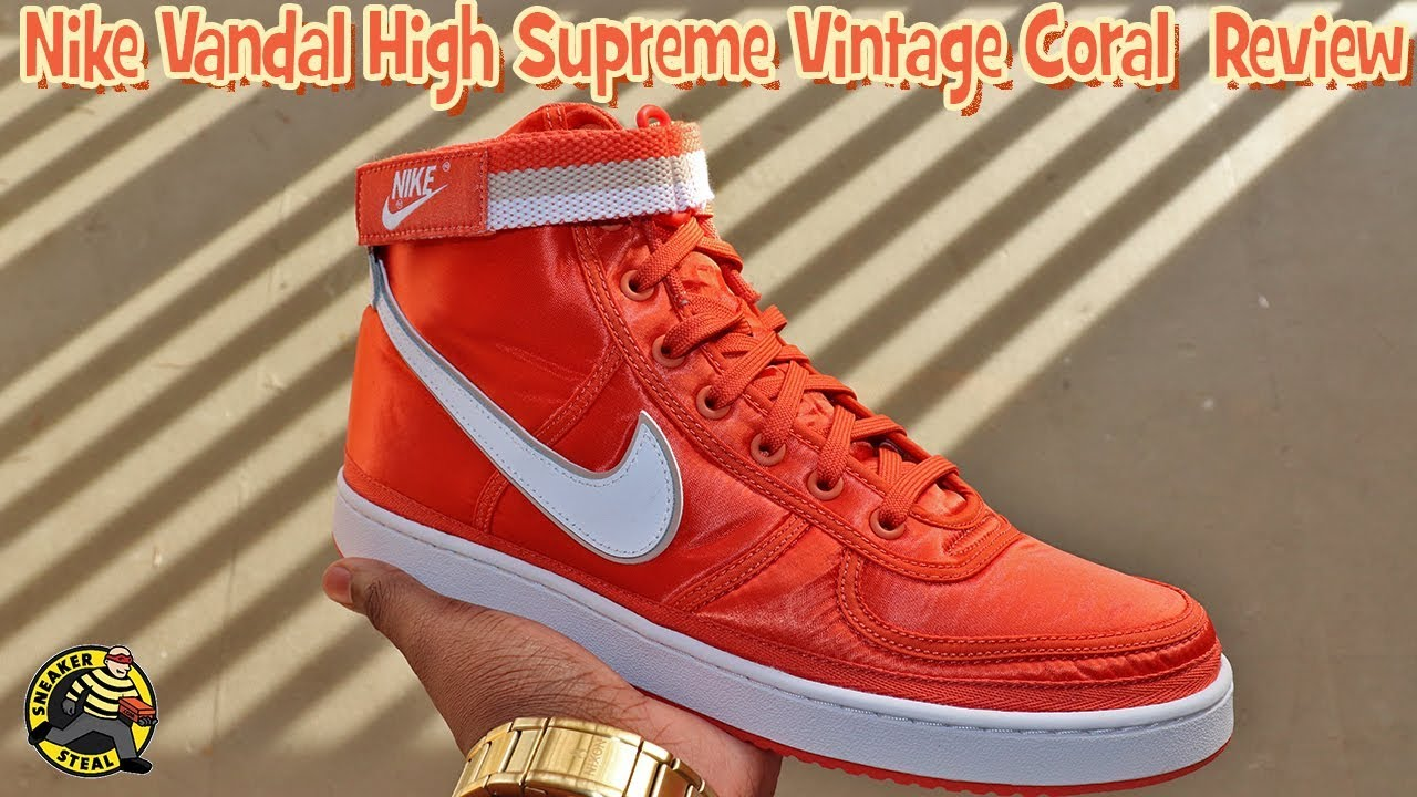 trimestre cuidadosamente Costoso  Nike Vadal High Supreme Vintage Coral Review with Sizing - YouTube