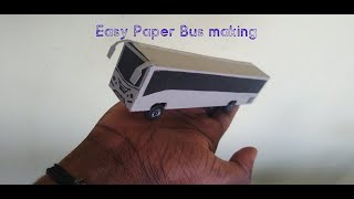 #DIY How to make Easy paper Bus - using Toothpaste box