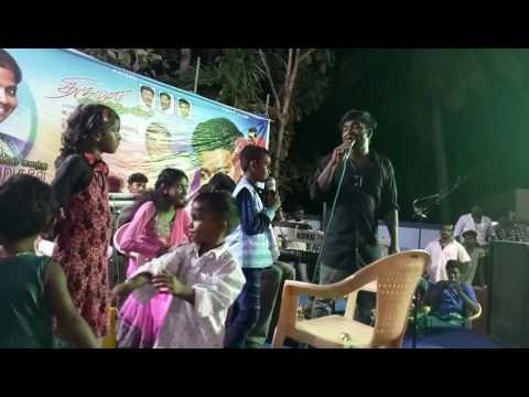 Chennai gana small baby singing amma song and appa song with gana prabha anna